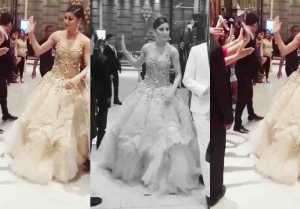 Iifa 2018: Urvashi Rautela Loses Balance In 80 Kg Gown At Green Carpet; Watch Video
