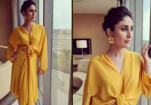 Kareena Kapoor looks bright as a Sun in her Yellow Skirt & Blouse Look  FilmiBeat