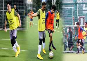 Ishaan Khatter gives tough FIGHT to MS Dhoni in Football match
