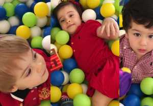 Taimur Ali Khan plays with Karan Johar kids Yash  Roohi, Video goes viral