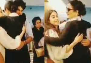 Jhanvi Kapoor & Ishaan Khatter gets WARM HUG from Rekha after watching Dhadak