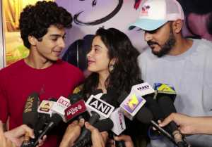 Jhanvi Kapoor & Ishaan Khatter's CUTE Moment; Watch Video