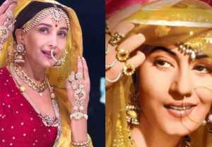 Madhuri Dixit recreates Madhubala's iconic look from MughaleAzam  FilmiBeat