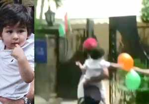 Taimur Ali Khan's CUTE video while playing with balloon on Independence Day goes viral  FilmiBeat