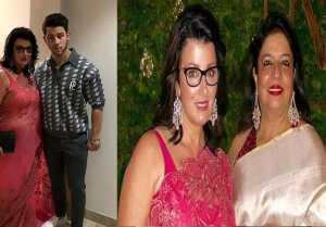 Priyanka Chopra Nick Jonas: निक की Mom Denise Miller पहुंची Pink Saree में