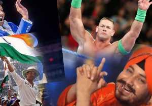 John Cena Confuses Fans by sharing Kapil Sharma, Daler Mehndi & Sachin Tendulkar's Photo  FilmiBeat