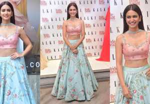 Kriti Kharbanda spotted in beautiful lehenga at new collection launch of Bride and Baraat FilmiBeat