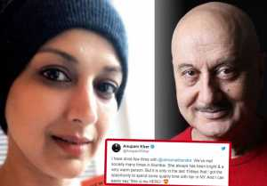 Sonali Bendre : Anupam Kher meets Sonali in New York