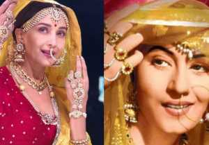 Madhuri Dixit recreates Madhubala's iconic look from MughaleAzam  FilmiBeat