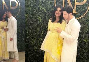 Priyanka Chopra & Nick Jonas: Priyanka dazzels in this Designer's dress for Roka Ceremony FilmiBeat