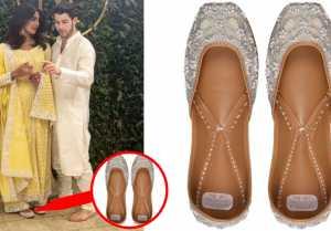 Priyanka Chopra & Nick Jonas Engagement: Priyanka's Designer Juttis are just adorable!  FilmiBeat