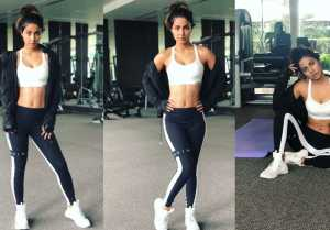 Hina Khan flaunts her TONED BODY in latest Photos; Check out here FilmiBeat