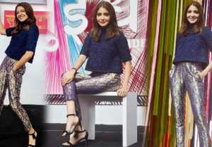 Anushka Sharma shimmers in Banarasi style pants at 'Sui Dhaaga' trailer launch  FilmiBeat