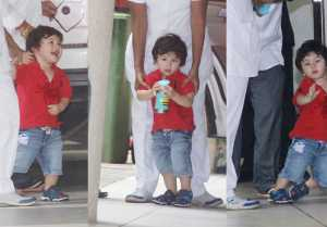 Taimur Ali Khan spotted outside at Nani Babita Kapoor's house  FilmiBeat
