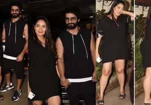 Batti Gul Meter Chalu screening: Mira Rajput attends screening of Shahid Kapoor's movie
