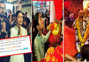 Hina Khan gets TROLLED for Ganpati puja at Lal Bagcha Raja