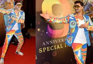 Ranveer Singh wears weird printed suit for an event; Watch Video