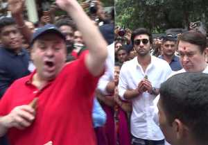 Ranbir Kapoor's uncle Rajiv Kapoor gets angry during RK studio's Ganapati visarjan; Video