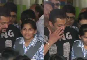 Salman Khan gets EMOTIONAL at special children's center in Jaipur; Watch Video