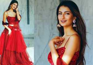 Shweta Tiwari's daughter Palak Tiwari looks beautiful in red lehenga