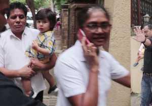 Taimur Ali Khan की फोटो लेने पर भड़की नैनी, कहा फोटो मत लो; Watch Video