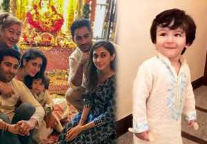 Taimur Ali Khan's Ganpati Pooja Celebration with Kareena Kapoor Khan; Watch Video