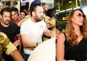 Salman Khan & Lulia Vantur get mobbed by fans at Jaipur airport; Watch Video