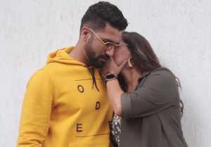 Neha Dhupia & Vicky Kaushal SPOTTED during the recording of No Filter Neha Season 3