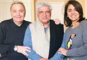 Javed Akhtar meets Rishi Kapoor and Neetu Singh in New York; checkk out