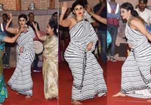 Mouni Roy's beautiful Bengali DANCE on Durga Puja at Mumbai Pandal goes VIRAL