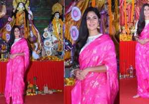Katrina Kaif spotted at Durga Puja in Mumbai Pandal; Watch video