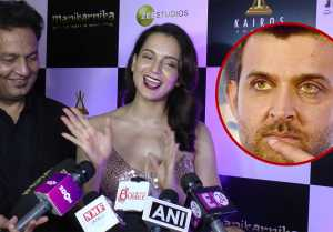 Kangana Ranaut makes FUN of Hrithik Roshan's Super 30; Watch Video