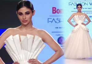 Mouni Roy walks on ramp for Bombay Times Fashion Week 2018; Watch Video
