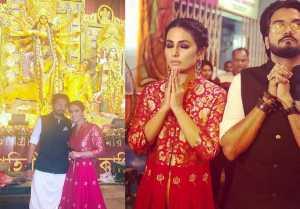 Hina Khan & Rocky Jaiswal visit at Durga Puja Pandal in Kolkata; check out here