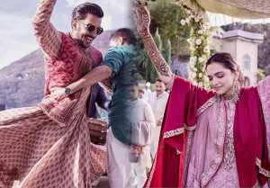 Deepika Padukone - Ranveer Singh dance on Ghoomar during Mehendi Ceremony