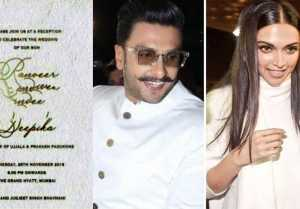 Deepika Padukone & Ranveer Singh wedding: Mumbai reception card goes VIRAL