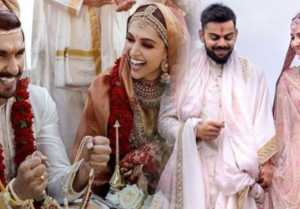 Deepika & Ranveer's Wedding pics break Virat & Anushka's Wedding record