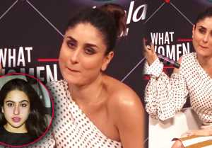 Kareena Kapoor Khan makes Weird faces on Sara Ali Khan's Name; Watch video