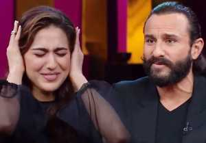 Sara Ali Khan gets  embarrassed when Saif Ali Khan talks about his Sex Life