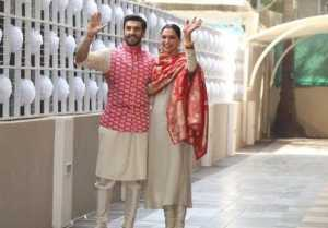 Deepika Padukone and Ranveer Singh came in front of the media for the first time