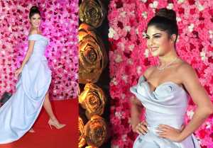 Jacqueline Fernandez shines at the sizzling red carpet of Lux Golden Rose Award