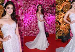 Alia Bhatt makes a fashion statement at Lux Golden Rose Awards 2018