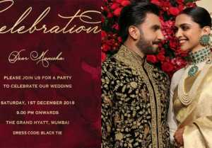 Deepika Ranveer to host Reception for bollywood celebs on this date; Not on 28 November