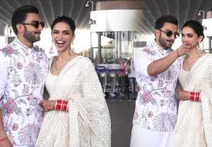 Deepika Padukone blushes as media calls her Bhabhi in front of Ranveer Singh; Watch Video