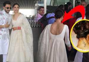Deepika  Ranveer Reception: Deepika Padukone REMOVES Ranbir Kapoor's Tattoo; Watch Video