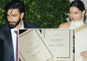Deepika - Ranveer Wedding: DeepVeer sends Thank You card with sweets after marriage; Find Out