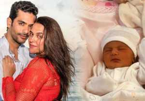Neha Dhupia's Baby girl Mehr's First Photo gets REVEALED ; check out here