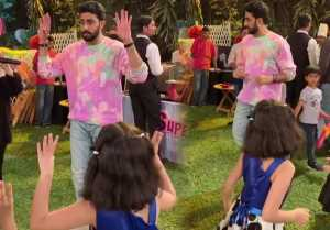 Abhishek Bachchan dances on Aaradhya Bachchan's birthday bash; Watch Video