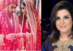 Deepika Padukone & Ranveer Singh : Farah Khan's Hilarious comment on DeepVeer wedding
