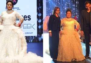 Bharti Singh turns showstopper for Designers Ashish & Shefali at the Times Fashion Week